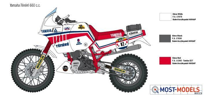 ITALERI 1//9 YAMAHA TENERE 660cc PARIS DAKAR 1986 # 4642
