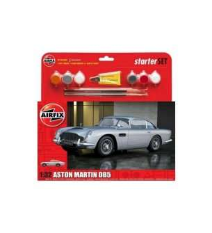 1:32 Airfix 50089B Aston Martin DB5 Silver – Medium Starter Set