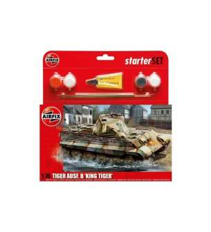 1:76 Airfix 55303 King Tiger Tank - Medium Starter Set