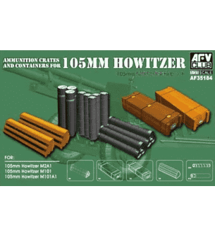 1:35 AFV Club 35184 Ammunition crates and containers for 105mm Howitzer