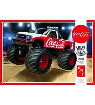 1:25 AMT 1184 Chevy Silverado Monster Truck - 1988 - Coca-Cola