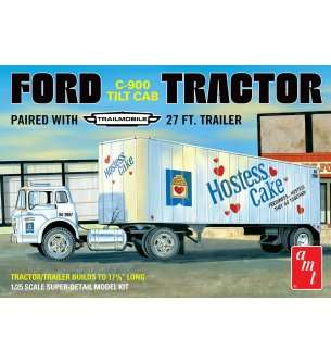 1:25 AMT 1221 Ford C-900 Hostess Truck with Trailer