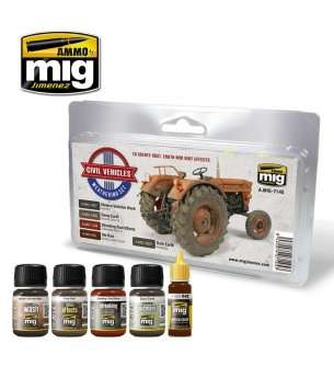 AMMO MIG 7145 Civil Vehicles - Weathering Set