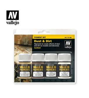 Vallejo 73190 Dust & Dirt - Pigment set