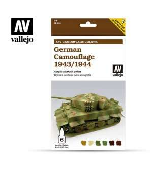 Vallejo 78414 German Camouflage 1943/1944 - Acryl set