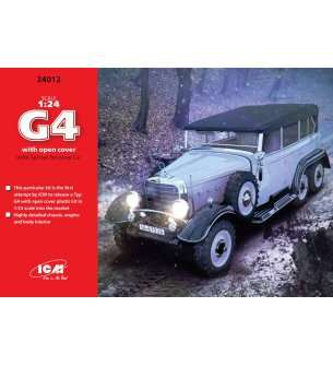 1:24 ICM 24012 Typ G4 with open cover, WWII German Personnel Car