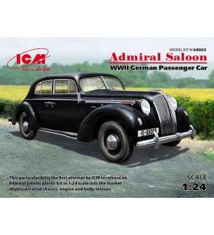 1:24 ICM 24023 Admiral Saloon, WWII German Passenger Car