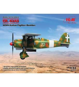 1:32 ICM 32023 CR. 42AS WWII Italian Fighter-Bomber