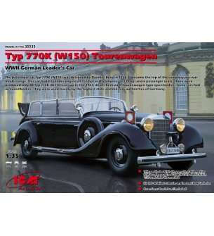 1:35 ICM 35533 Typ 770K (W150) Tourenwagen, WWII German Leader's Car