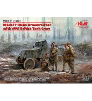 1:35 ICM 35670 Model T RNAS with WWI British Tank Crew