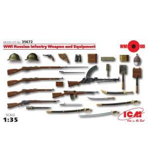 1:35 ICM 35672 WWI Russian Infantry Weapon and Equipment