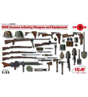 1:35 ICM 35678 WWI German Infantry Weapon and Equipment
