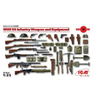 1:35 ICM 35688 WWI US Infantry Weapon and Equipment