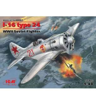 1:48 ICM 48097 I-16 type 24, WWII Soviet Fighter