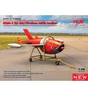 1:48 ICM 48400 Q-2A (KDA-1) Firebee with trailer (1 airplane and trailer)