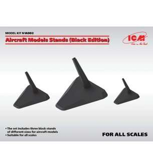 ICM A002 Aircraft Model Stands - Black Edition - for 1:144, 1:72, 1:48 & 1:32