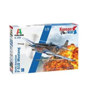 1:72 Italeri 1452 North American F-51D Mustang Korean War
