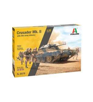 1:35 Italeri 6579 Crusader Mk. II with 8th Army Infantry
