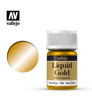 Vallejo 70794 Liquid Red Gold