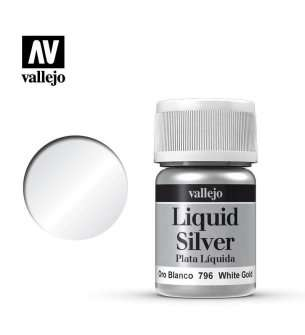 Vallejo 70796 Liquid Silver - White Gold