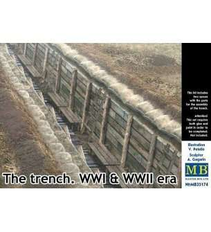 1:35 Master Box 35174 The Trench WWI and WWII era.
