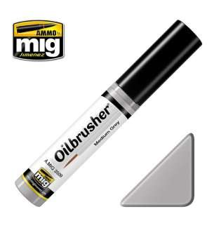 AMMO MIG 3509 Oilbrusher Medium Grey