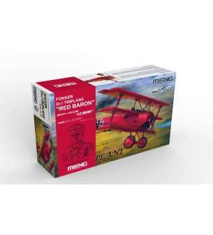 1:32 MENG QS002S Red Baron's Classic Triplane Debuts with 1:10 Resin Bust!