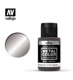 Vallejo 77721 Metal Color Burnt Iron - Acryl (32 ml)