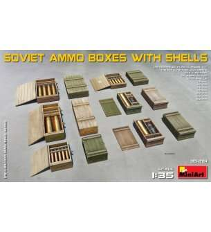 1:35 MiniArt 35261 Soviet Ammo Boxes with Shells