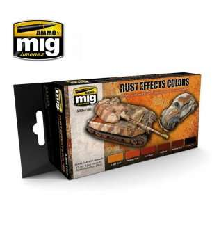 AMMO MIG 7106 Rust Effects Colors - Acryl set