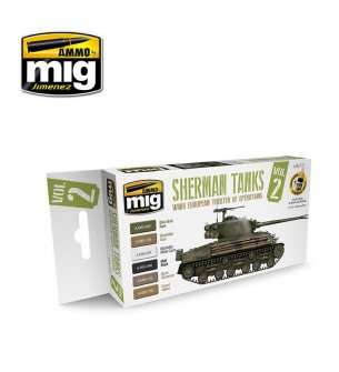 AMMO MIG 7170  Sherman Tanks 2 (WWII Europe Theater of Oper.) - Acryl set