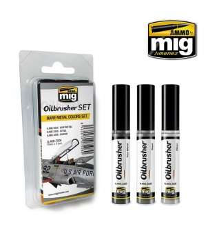 AMMO MIG 7508 Oilbrushers Bare Metal Colors - Set