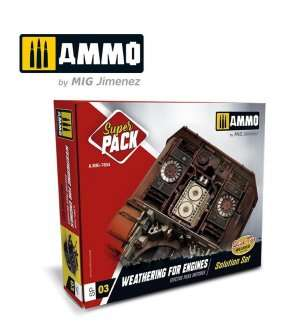 AMMO MIG 7804 Weathering for engines - Super Pack!