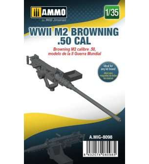 1:35 AMMO MIG 8098 WWII M2 Browning .50 CAL