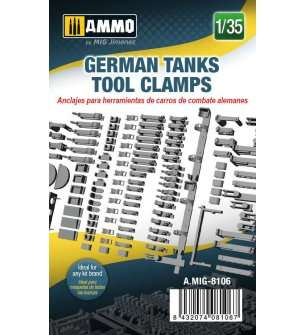 1:35 AMMO MIG 8106 German Tanks Tool Clamps
