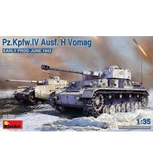 1:35 MiniArt 35302 Pz.Kpfw.IV Ausf. H Vomag. EARLY PROD. JUNE 1943