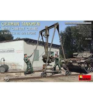 1:35 MiniArt 35350 German Tankmen with Gantry Crane & Maybach HL 120 Engine