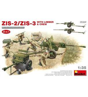 1:35 MiniArt 35369 Zis-2/Zis-3 with limber & Crew. 2 in 1
