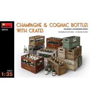 1:35 MiniArt 35575 Champagne & Cognac bottles with crates