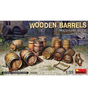 1:35 MiniArt 35630 Wooden - Barrels Medium Size
