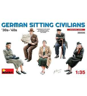 1:35 MiniArt 38006 German Sitting Civilians '30s-'40s