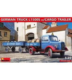 1:35 MiniArt 38023 German Mercedes Truck L1500S with Cargo Trailer
