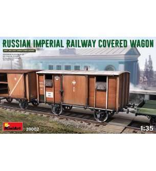1:35 MiniArt 39002 Russian imperial railway covered wagon WWI