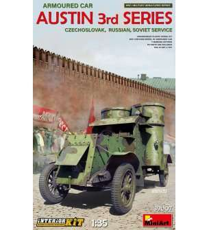 1:35 MiniArt 37009 Austin Armoured Car 3rd series with Interior Kit
