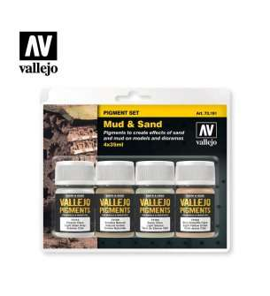 Vallejo 73191 Mud & Sand - Pigment set