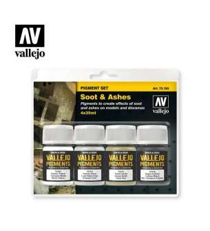 Vallejo 73193 Soot & Ashes - Pigment set