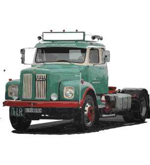 1:24 Scania 110/111 Daycab complete Resin kit (without Tires)