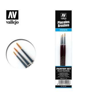 Vallejo P54999 Detail Set - Round Synthetic Toray Brushes