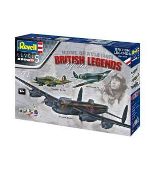 1:72 Revell 05696 100 Years RAF: British Legends - Gift Set