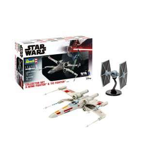 1:57 & 1:65 Revell 06054 Collector Set  X-Wing Fighter + TIE Fighter - Gift Set